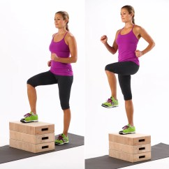 Chair Gym Weight Loss Used No Plumbing Pedicure Step Ups 7 Minute Hiit Workout Popsugar Fitness