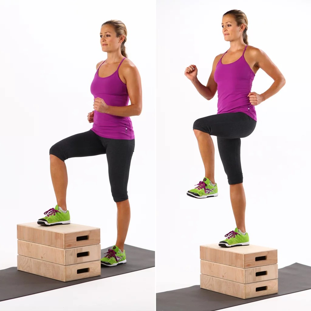 Chair Exercise Chair Step Ups 7 Minute Hiit Workout Popsugar Fitness Photo 6