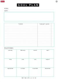 Download: Blackco Goal Plan Sheet | Free Printable Goal ...