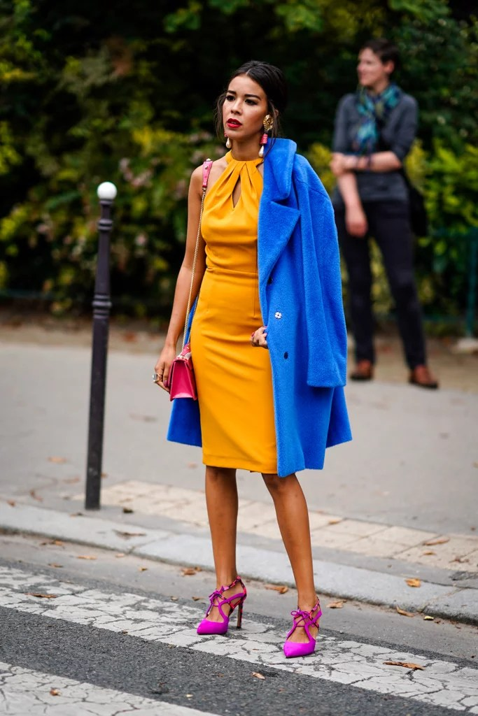 Blue And Yellow Outfit : yellow, outfit, Unusual, Color, Combination, Outfit, Ideas, POPSUGAR, Fashion
