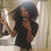 china mcclain's natural curly hair