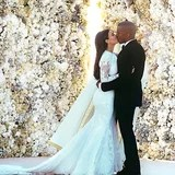 Look Back at Kim Kardashian's Stunning Givenchy Wedding Gown