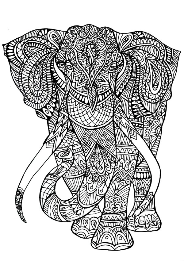 coloring pages of elephants # 18