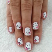 valentine's day nail art of