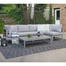 Gray 4-piece -weather Patio Set With Cushions Pier 1