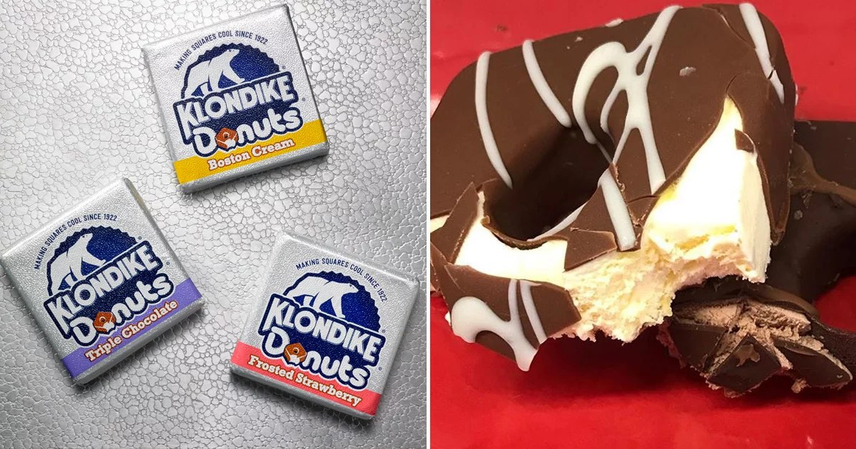 Klondike's Ice Cream Doughnut Bars Come in 3 Classic Flavors, Including Boston Cream