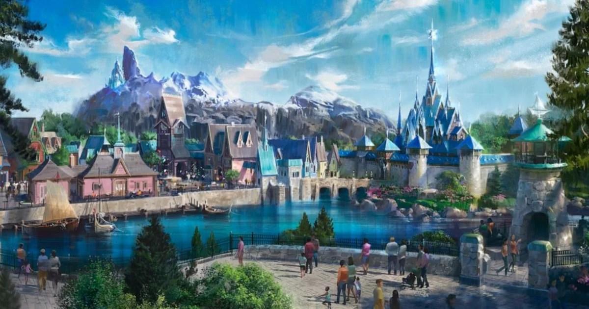 Frozen Land Details For Disneyland Paris Popsugar Family