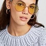 Gucci Oversize Round-Frame Gold-Tone Sunglasses
