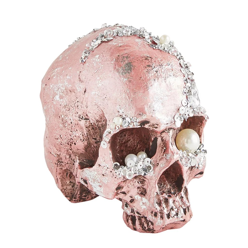 bejeweled halloween skull decoration