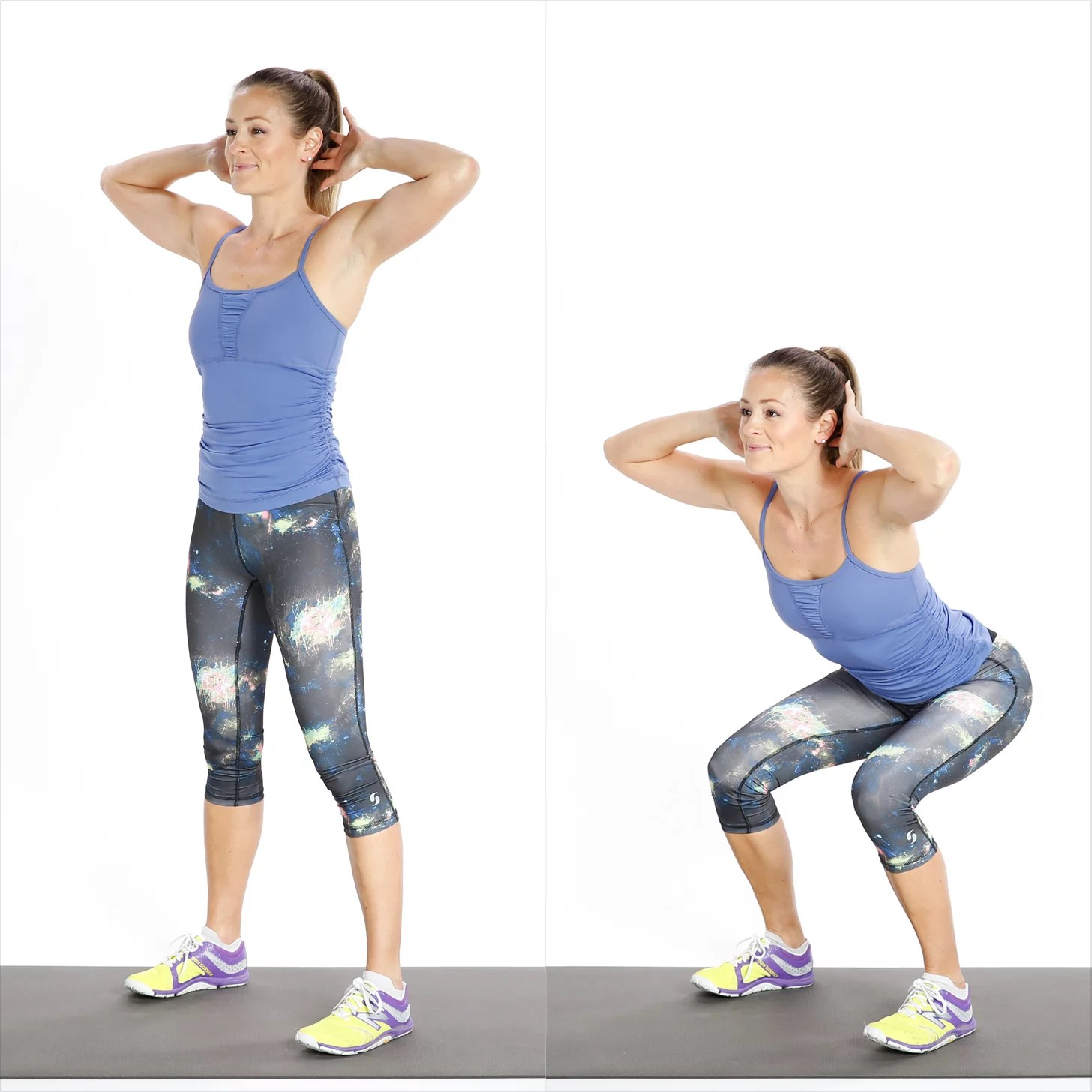chair gym weight loss stretch dining covers basic squat sculpt your booty with our 5 minute