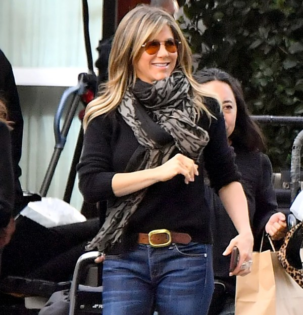 Jennifer Aniston Wearing Orange Tinted Aviators Set