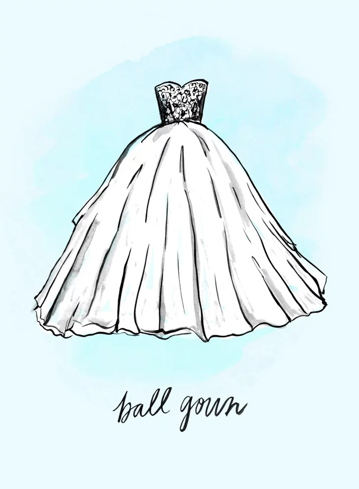 Ball Gown Wedding Dress Shapes And Silhouettes