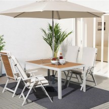 sjlland table with 4 reclining