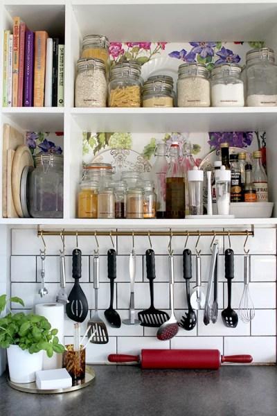 ikea kitchen hanging storage Under-Cabinet Hanging Storage | Ikea Kitchen Hacks | POPSUGAR Home Photo 1