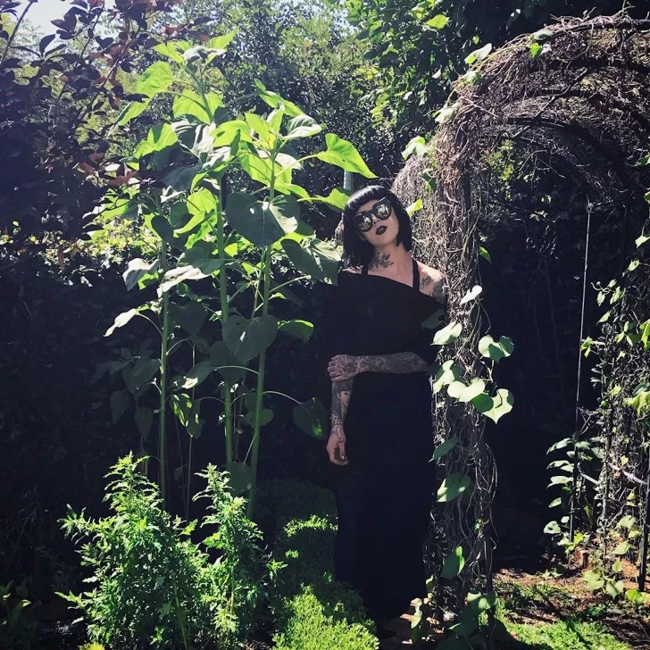 Kat Von Ds Black Flower Garden POPSUGAR Home