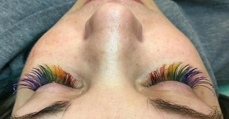 Rainbow Eyelash Trend POPSUGAR Beauty UK