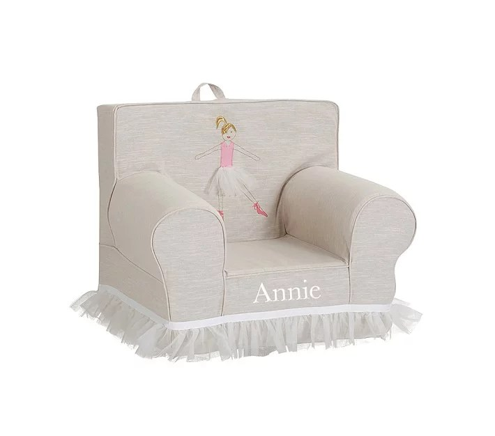 Pottery Barn Kids Ballerina Anywhere Chair  Personalized