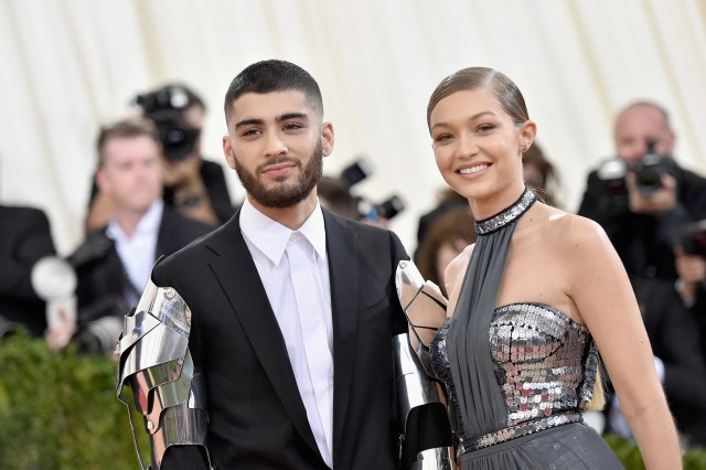 NEW YORK, NY - MAY 02:  Zayn Malik (L) and Gigi Hadid attend the