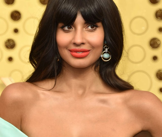 Jameela Jamil At The  Emmy Awards These Sexy Emmys Red