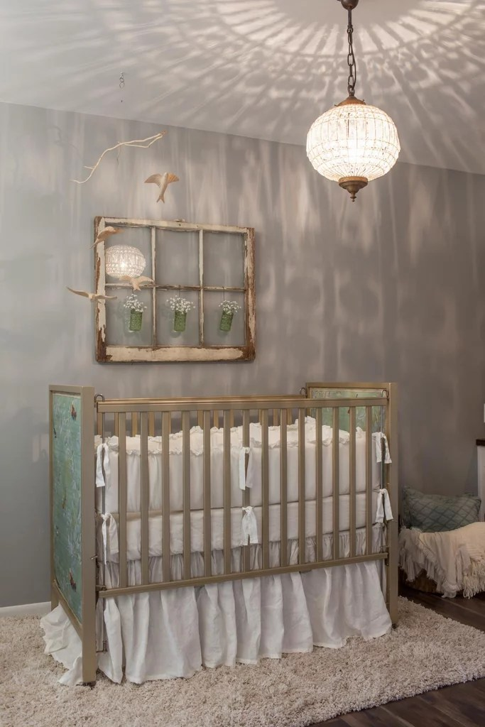 Baby Girl Nursery Removable Wallpaper How Joanna Gaines Decorates Kids Rooms Popsugar Home