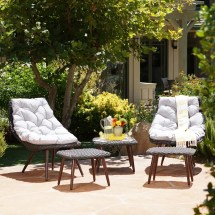 Caledonia Wicker Chat Set Target Outdoor Furniture