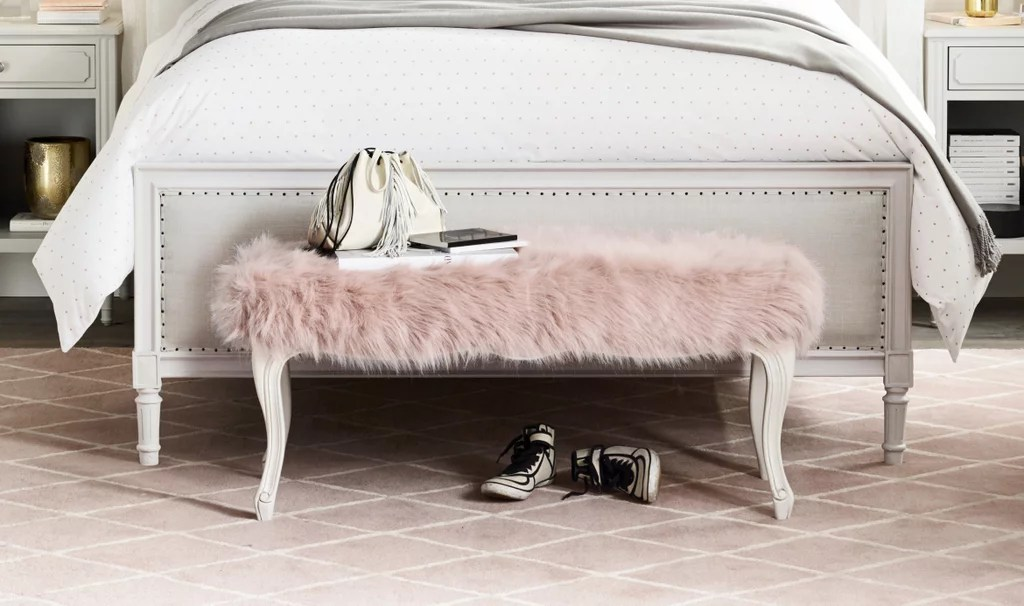 Faux Fur Bench  Best Pieces From RH Teen  POPSUGAR Home
