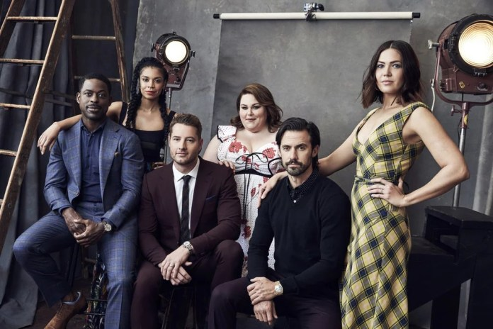 NBCUNIVERSAL UPFRONT EVENTS -- Upfront Portrait Studio -- Pictured:  Sterling K. Brown, Susan Kelechi Watson, Justin Hartley, Chrissy Metz, Milo Ventimiglia, Mandy Moore