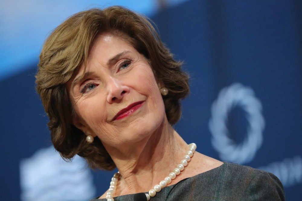 NEW YORK, NY - SEPTEMBER 18:  Laura Bush, Former First Lady, United States of America, speaks at The 2017 Concordia Annual Summit at Grand Hyatt New York on September 18, 2017 in New York City.  (Photo by Paul Morigi/Getty Images for Concordia Summit)