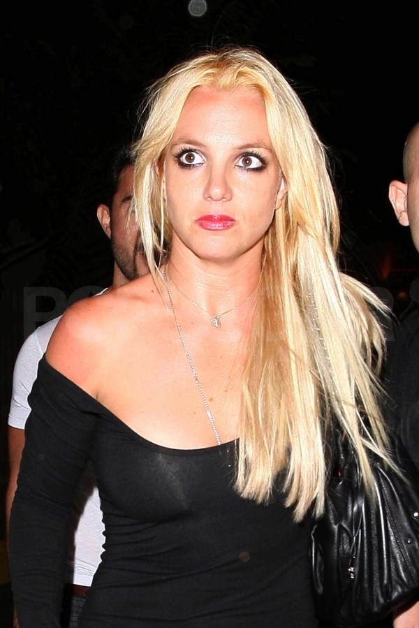 Britney Spears Clubbing Dying Hair Blond In La With Brown
