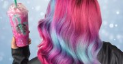 unicorn frappuccino rainbow hair
