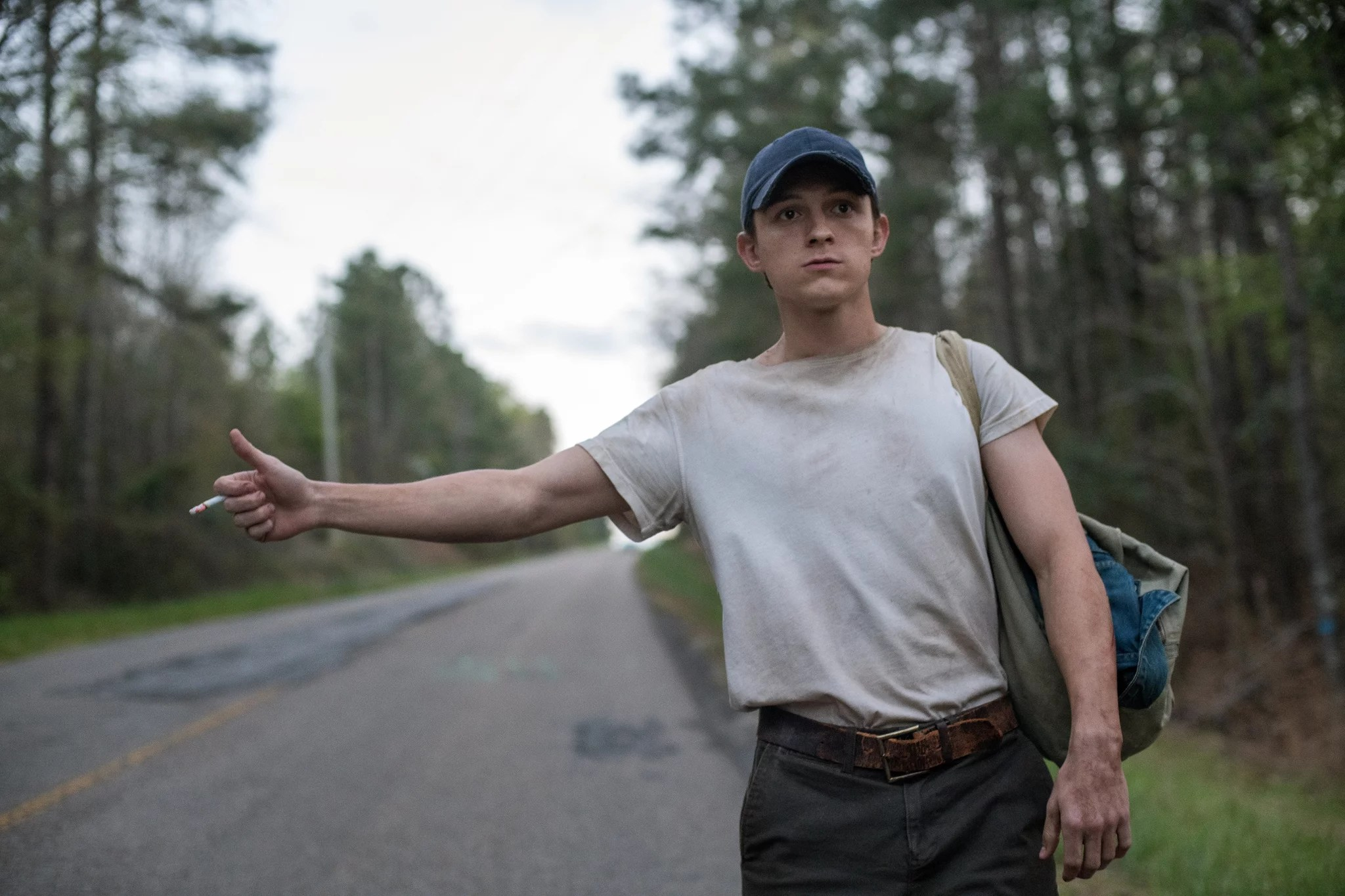 The Devil All The Time: Tom Holland as Arvin Russell. Photo Cr. Glen Wilson/Netflix  2020