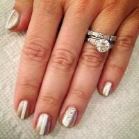 Bridal Nail Art With Rhinestones | POPSUGAR Beauty