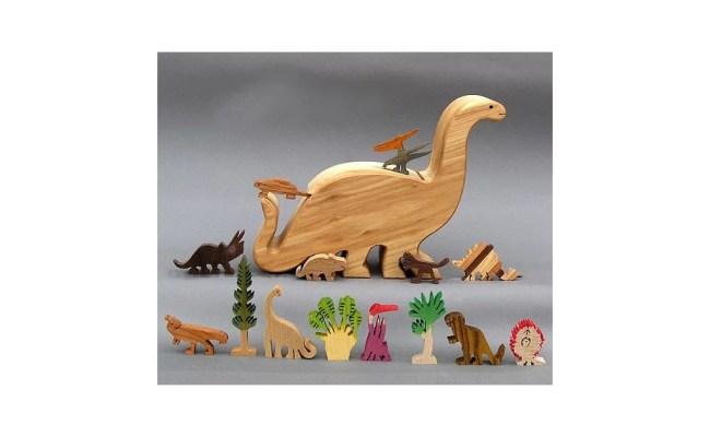 Wooden Dinosaur Toy Set Best Dinosaur Toys For Kids 2018