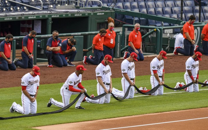 See MLB Players Kneel For Racial Justice on Opening Day   POPSUGAR ...