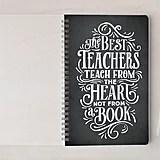Minted The Best Teachers Self-Launch Notebook