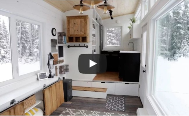 Ana White S Tiny House With Elevator Bed Popsugar Home