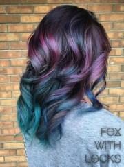 peacock hair color trend popsugar