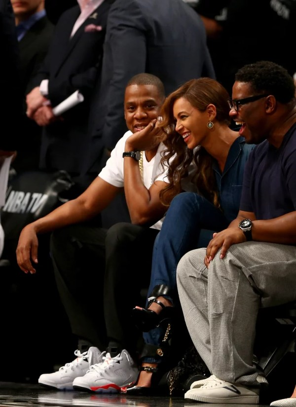 Beyonce and Jay Z at Basketball After Elevator Fight