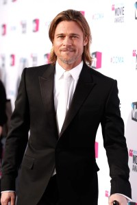 Brad Pitt wearing a white tie. | Brad Pitt in a White Tie ...