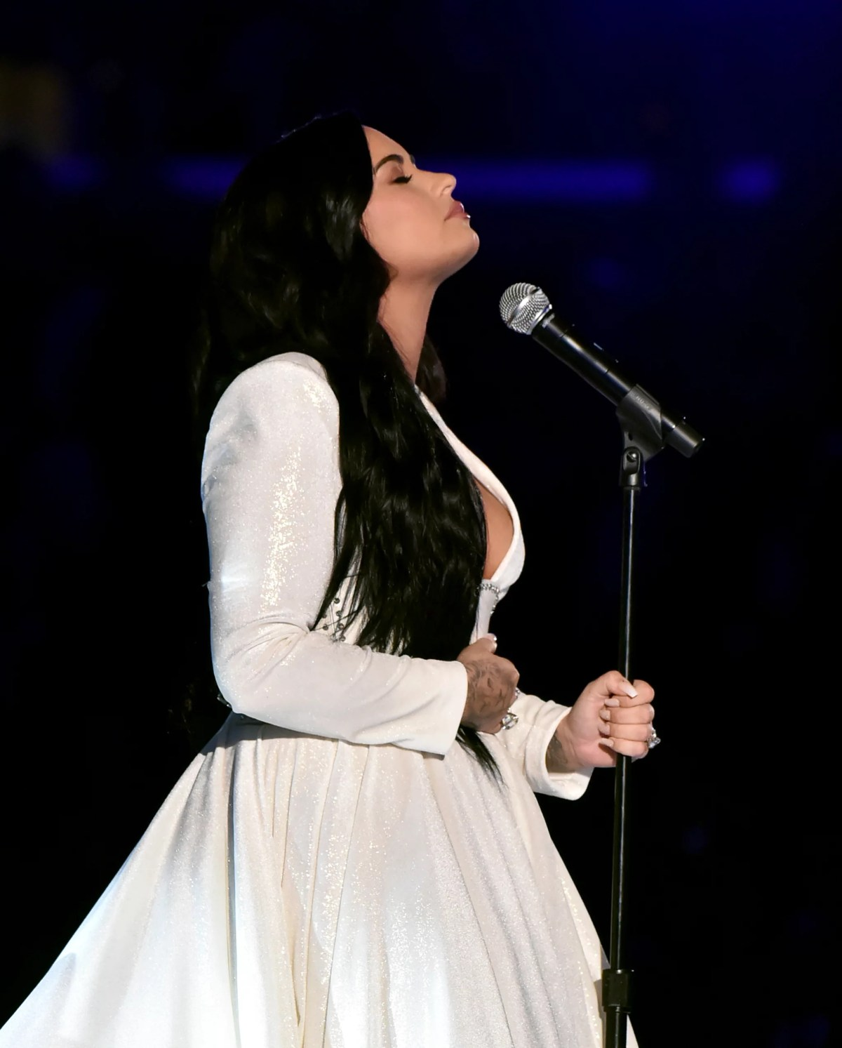 Fashion, Shopping & Style | Demi Lovato's Beautiful Grammys Gown Was  Created With Love by Christian Siriano | POPSUGAR Fashion Photo 7
