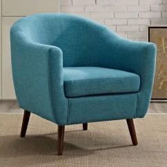 Tub Accent Chair Wedding Covers Hire Hull Simpli Home Roundstone 700 Aqua Blue Decor