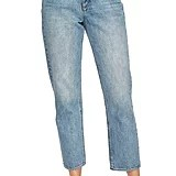 1.STATE Mid-Rise Straight Leg Ankle Jeans
