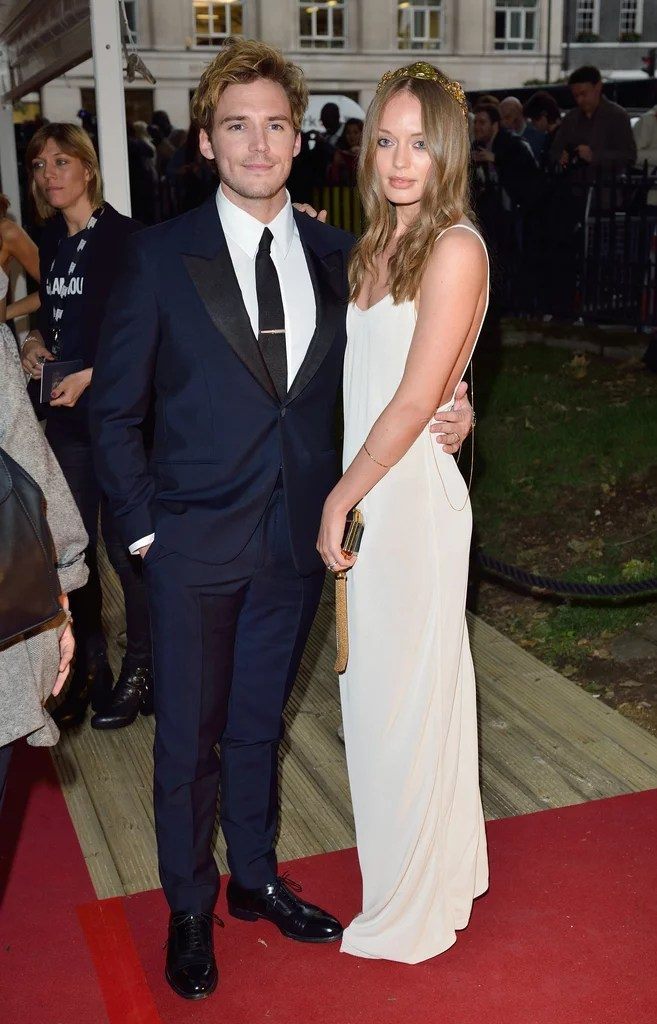 Sam Claflin Attended The Event With His Wife Laura