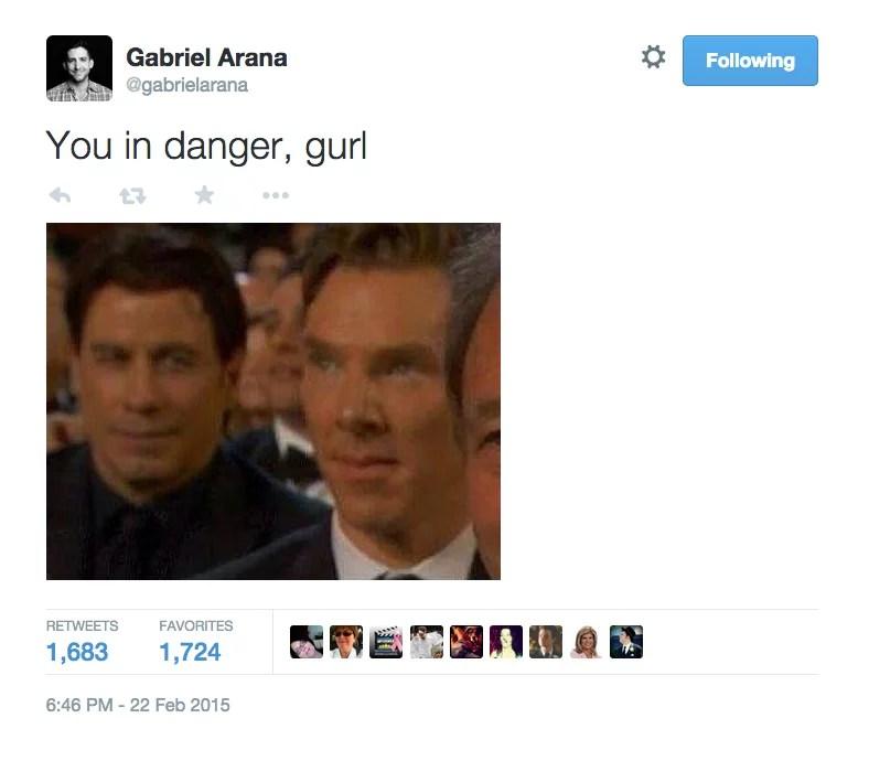 John Travolta And Benedict Cumberbatch Meme From 2015