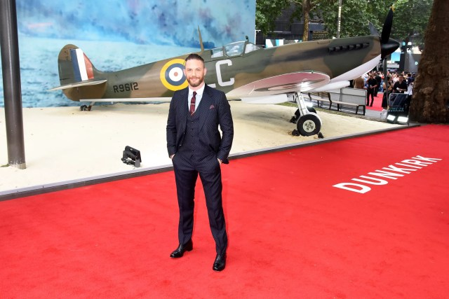 LONDON, ENGLAND - JULY 13:  Tom Hardy attends the world premiere of