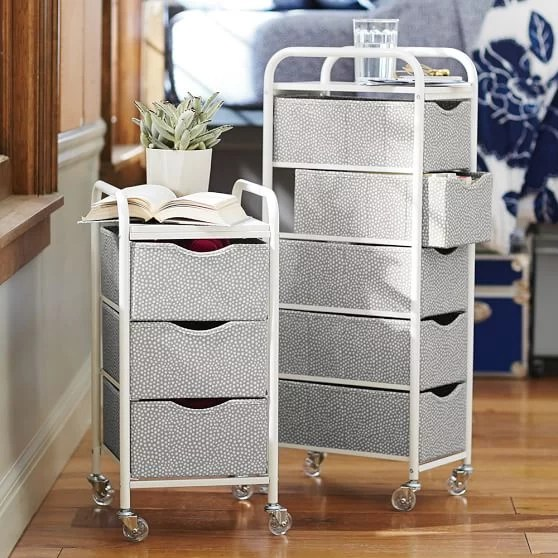 Rolling Storage Cart  MustHave Dorm Room Decor
