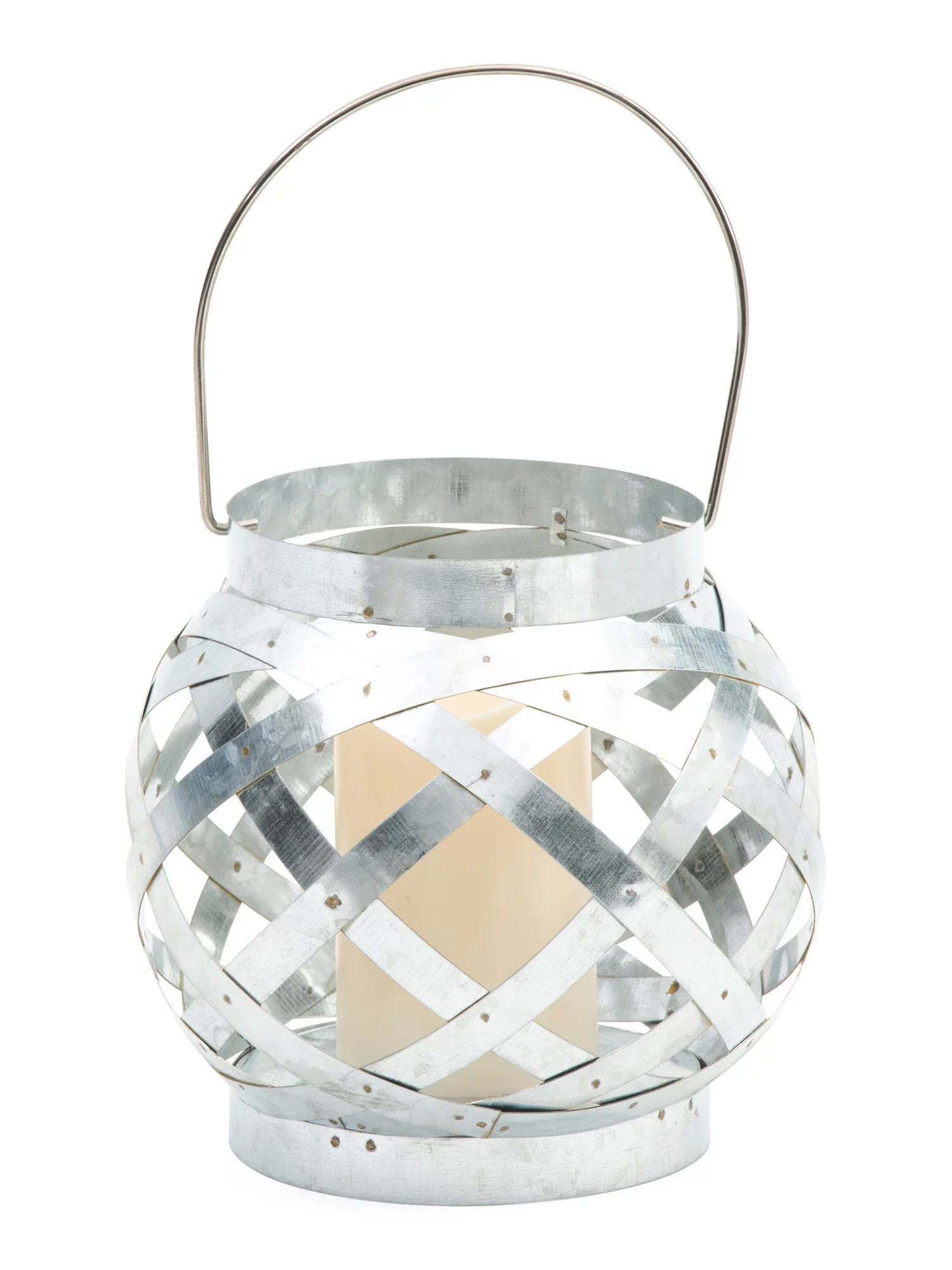 Galvanized Metal Led Lantern Refresh Your Living Space For
