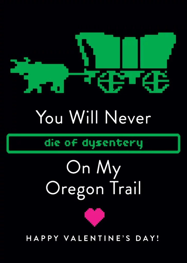 Youd Never Die Of Dysentery On My Oregon Trail 90s
