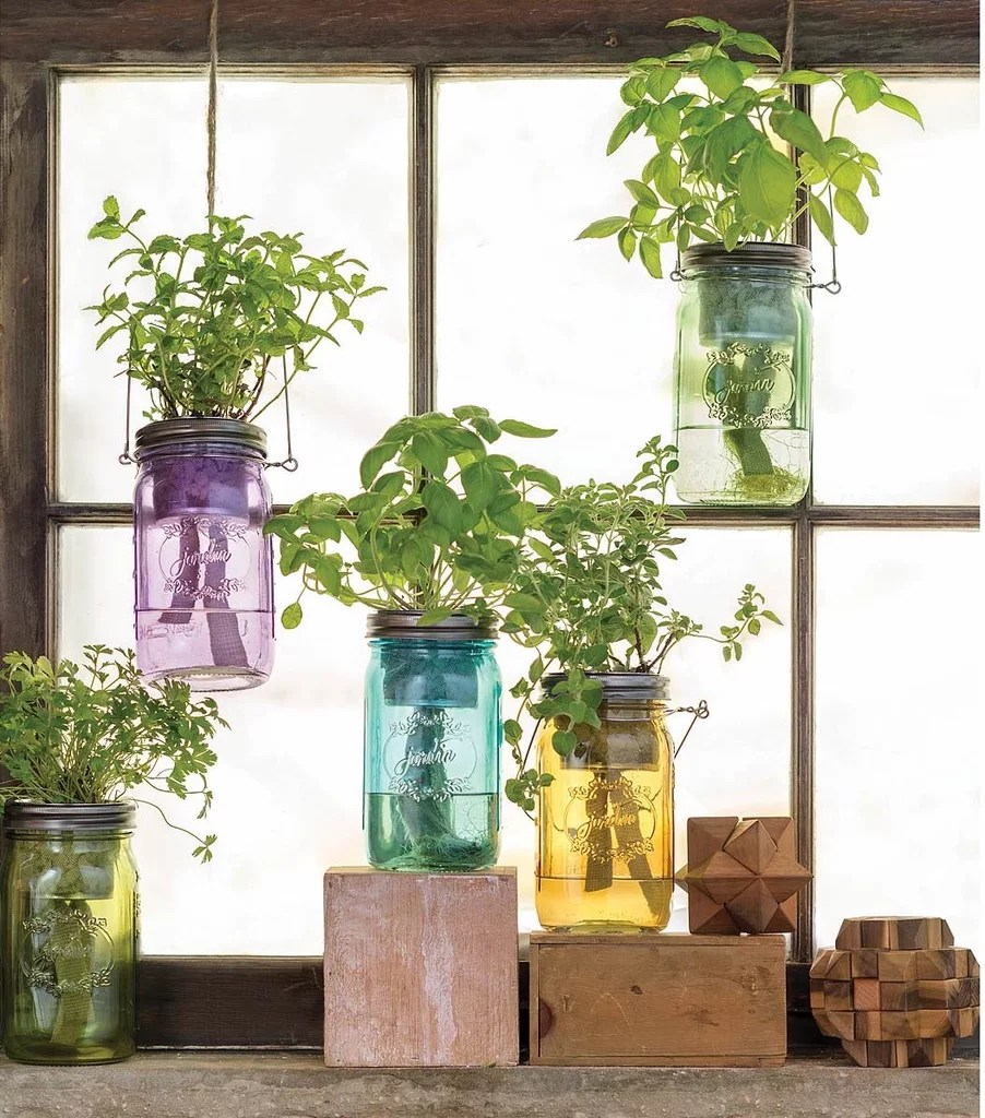indoor kitchen garden cabinet colors for small kitchens hang this mason jar herb 20 in your fall