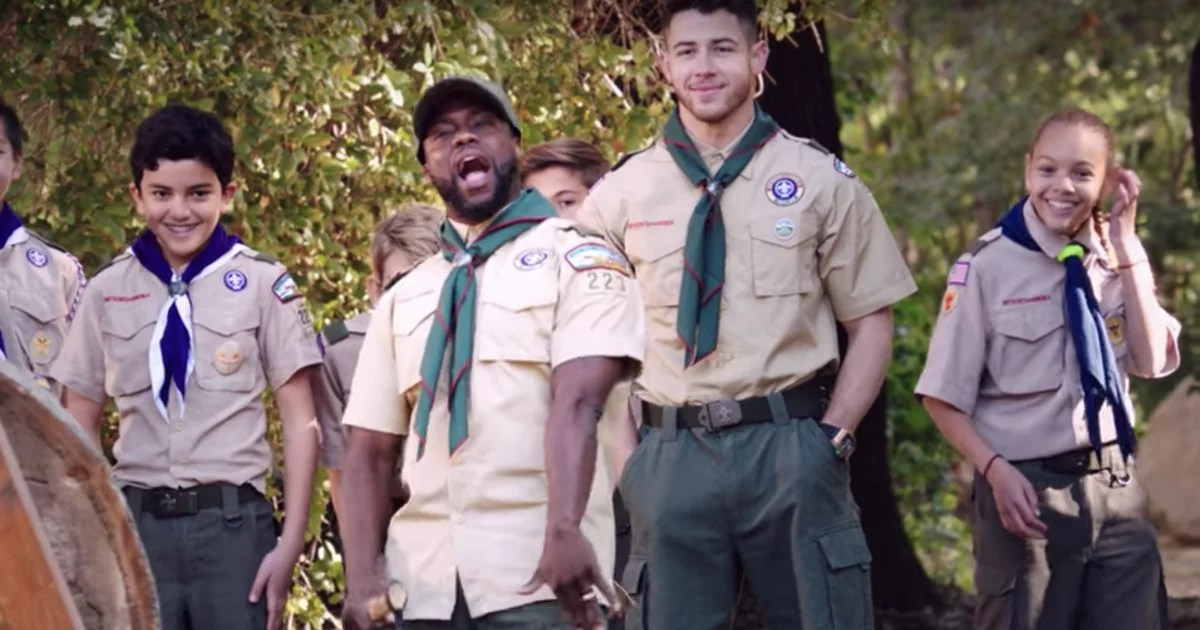 Nick Jonas and Kevin Hart Put Their Scouting Skills to the Test in Adorable Outdoor Contest